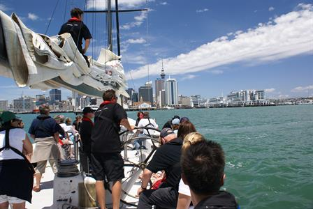 Sailing in Auckland Harbour