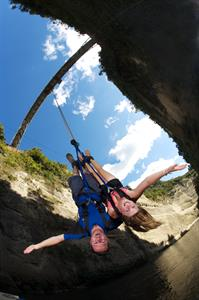 Bungy Jumping Through Mokai Gravity Canyon, Manawa