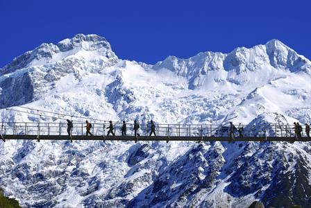 Walking near Aoraki Mt Cook, Canterbury