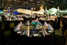 Dining in the Air Force Museum, Christchurch