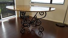 custom dining table base