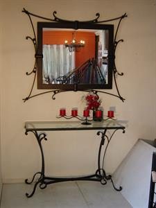 Hall Table #1 & Matching flat bar mirror