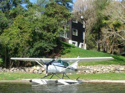 Lake plane landing