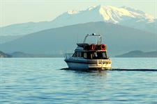 fishing or scenic cruise on Lake Taupo