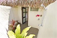 All room types - outside showers