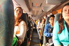 Group on a bus
