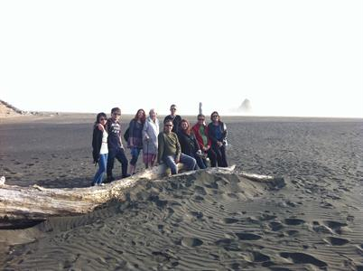 Group shots at Karekare beach 2