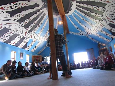 Group workshoop on Marae
