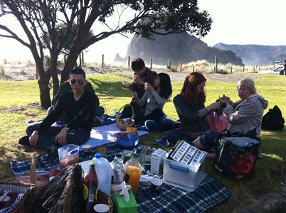 Piha Beach_NZ Food tastings on tour