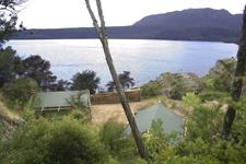The view from our glamping site