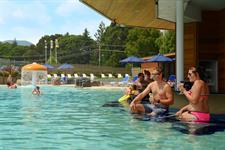 Swim Up Bar & Cafe And View Of The Mushroom Fountain