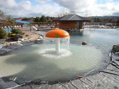 Mushroom Fountain In The Kiddies Pool