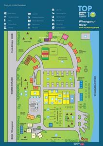Park Map 2020 Whanganui River TOP 10 Holiday Park