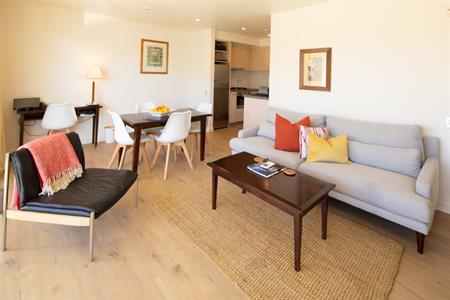 Corner Suite 19 living & dining Feb 2021 Villa del Lago