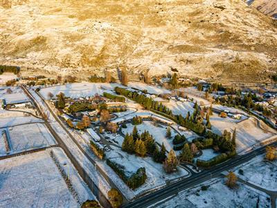 The Park - Aerial Mt. Aspiring Holiday Park