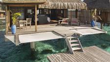 5a - Conrad Bora Bora Nui - Overwater Villa deck Conrad Bora Bora Nui