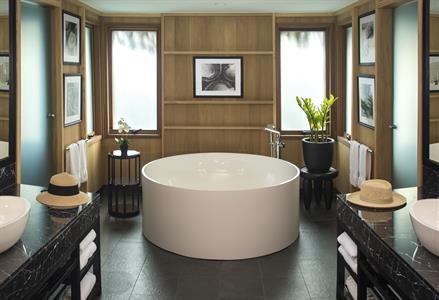 6c - Conrad Bora Bora Nui - Deluxe Overwater Villa Bathroom Conrad Bora Bora Nui
