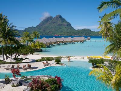 Bora Bora From The Air - Tahiti Pearl Beach Resort 2 Bora Bora Pearl Beach