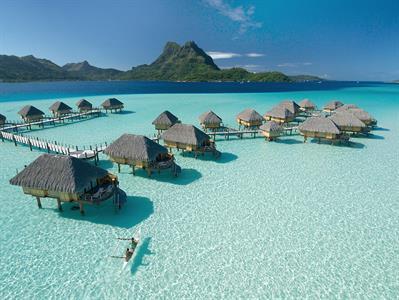 Aerial View - Overwater Bungalow - Bora Bora Pearl Beach Resort & Spa Bora Bora Pearl Beach Resort & Spa