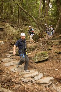 Ziptrek Guests Walking The Ziptrek Ziptrek Ecotours