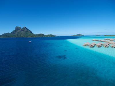 Bora Bora Romance - Tahiti Pearl Beach Resort - Arial View Bora Bora Pearl Beach