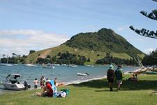 View of Mount Maunganui from Pilot Bay