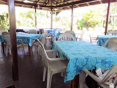 Samoa Outrigger - Open dinning area Samoan Outrigger Hotel