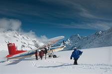 Skiers-boarding-a-Ski-Planes INFLITE Central Reservations