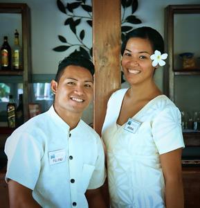 Amoa Resort - friendly staff Amoa Resort