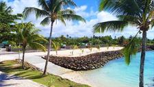 Amoa Resort - sandy platform Amoa Resort