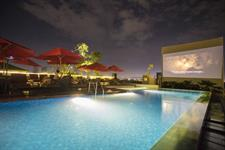 Movie Night Poolside