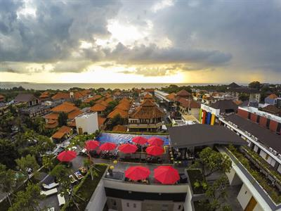 Aerial Sunset Swiss-Belinn Legian, Bali