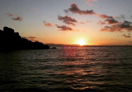 Sunset off North Molle Island