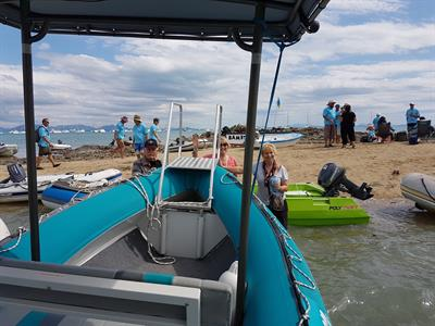 Water taxi at Cape Gloucester SICYC Rendezvous 2016