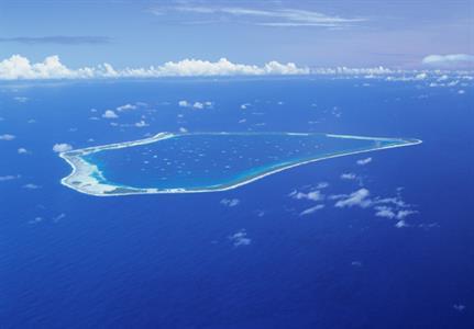 Aerial shot - Manihiki Island Air Rarotonga