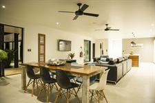 Living Area & Kitchen Interior Pacific Palms Luxury Villa