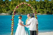 Aitutaki Village - One Foot Island Wedding
