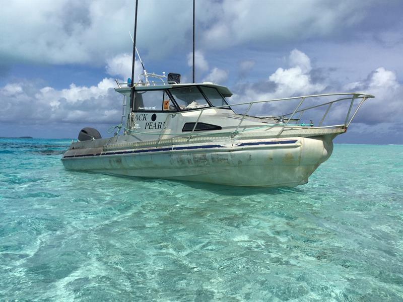 image gallery for black pearl fishing charters aitutaki boat