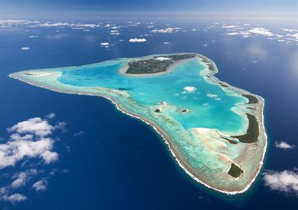 Aitutaki Aerial Shot Air Rarotonga