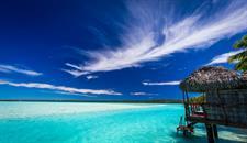 ALPIR - Overwater Bungalow shot Aitutaki Lagoon Private Island Resort