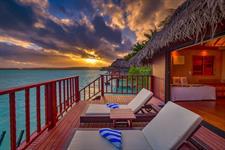 ALPIR - Overwater Bungalow Deck Aitutaki Lagoon Private Island Resort