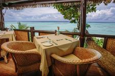 PRA - Dining view Pacific Resort Aitutaki