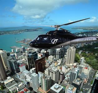 Auckland City Flying Above the City