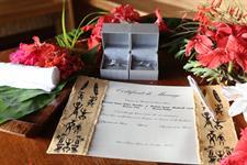 g - Le Meridien Bora Bora - wedding certificate on Le Meridien Bora Bora