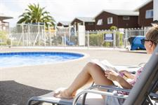 Relaxing at Oceans Resort Pool