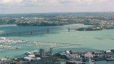 Auckland Harbour Bridge Aerial INFLITE Central Reservations