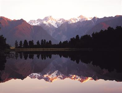 DH Fox Glacier - Lake Matheson Sunset
