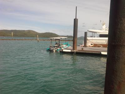Awaiting passengers at Dayream Island
