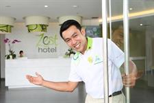 Staff Greetings Zest Hotel Airport Jakarta