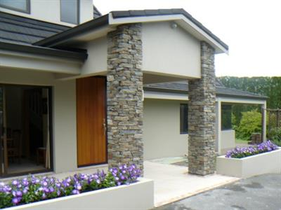 Hyde Schist Columns on a home renovation